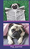 Pug Journal: For Pug Lovers! 100 Pages with a Pug on every page plus writing room for journaling, lists or diary entries.