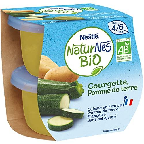 NESTLÉ Naturnes BIO - Petits Pots Bébé - Courgette Des 4/6 Mois 2 X 130g