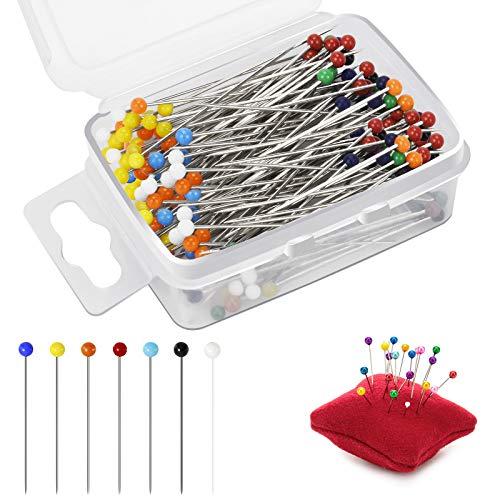 Nadeln, Nadeln mit Perlenkopf ,Stecknadeln 100Stück,für Schmuck Herstellung, Nähen und Handwerk(38mm)