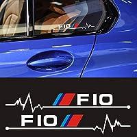 2 個車の窓バックミラーステッカー bmw E30 E34 E36 E39 E46 E60 E61 E87 E90 E83 F10 f20 F30 カースタイリングアクセサリー-Black, 12cm, E39