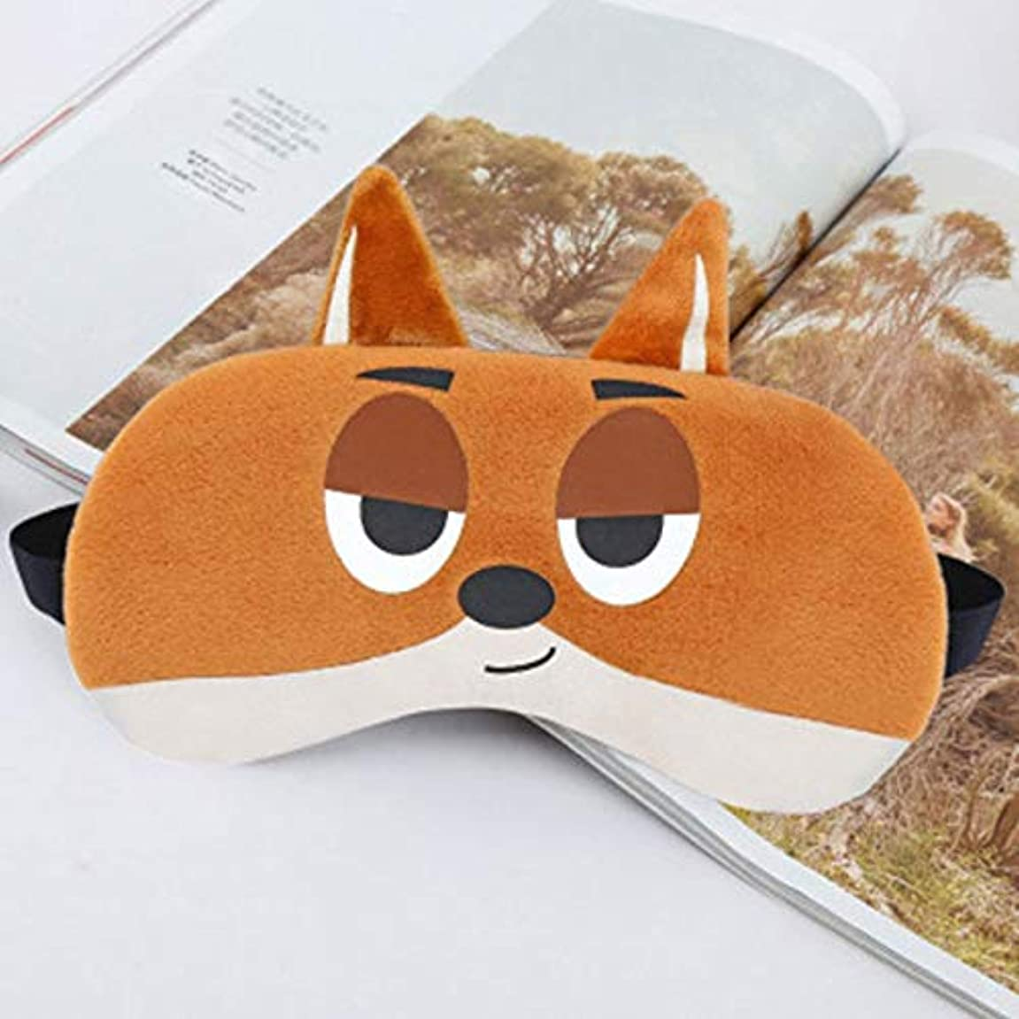 秋代わりのウガンダNOTE Atomusかわいいスリーピングアイマスク3dタイガー/フォックス/ラビット/ベアプリントアイパッチポータブル目隠し旅行アイカバーシェードなしアイスバッグ