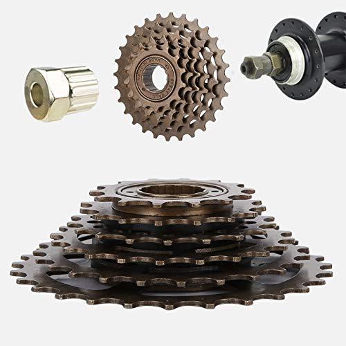 FOLOSAFENAR Durable Bike Single Speed Freewheel Bike Cassette Flywheel Sprocket Bicycle Freewheel One-speed 16T Bicycle Replacement Accessory,for Cycling
