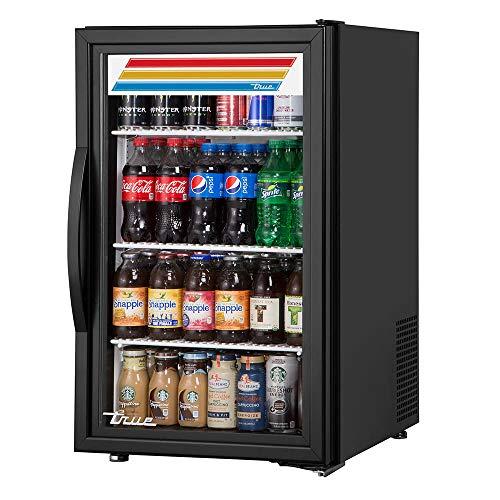 """True GDM-06-34-HC~TSL01 20"""" Countertop Refrigerator w/Front Access - Swing Door, Black, 115v"""