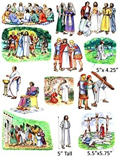 Crucifixion and Resurrection of Jesus Felt Figures for Flannel Board Bible Stories-precut