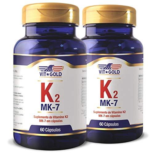 Vitamina K2 MK-7 100mcg Vitgold Kit 2x 60 Caps