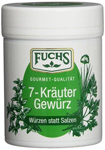 "Fuchs Würzen statt Salzen \""7 Kräuter\"" Kräuter-Gewürzmischung Gewürze Set, verschiedene Kräuter, für Salate, Gemüse, Nudeln und Geflügel, 3er Pack (3 x 50 g)"