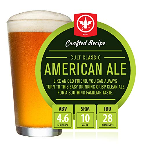 BrewDemon 2 Gal. Cult Classic American Ale Beer Recipe Kit - Makes a Wicked-Good 4.6% ABV Batch of Craft Brewed Beer