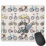 Clipart Fahrrad Rechteckiges rutschfestes Gaming-Mauspad Tastatur Gummi-Mauspad für Heim- und Büro-Laptops