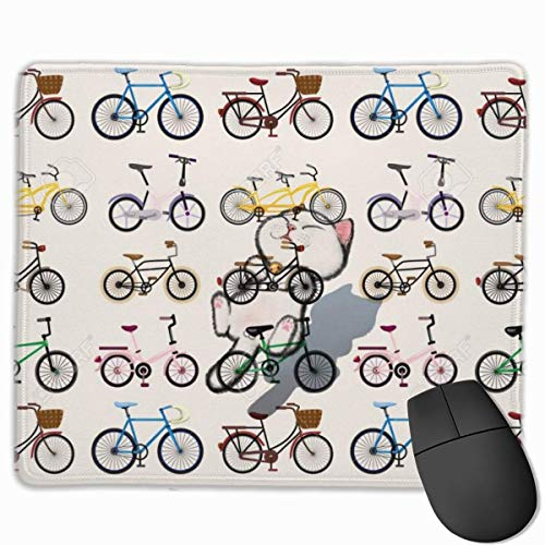 Clipart Fahrrad rutschfeste einzigartige Designs Gaming Mouse Pad schwarz Stoff Mousepad Art Naturkautschuk Maus Matte