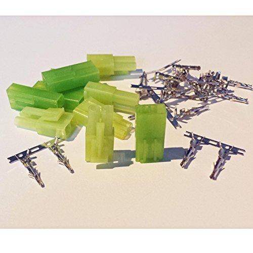 MR-Onlinehandel ® 5 Paar (10 Stück) Mini Tamiya kompatible Stecker und Buchse Crimp Set