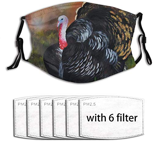 Made in usa Thanksgiving Thanksgiving Cute Turkey Print Washable Face Mask Bandana Balaclava Reusable and Adjustable for Men WomenThanksgiving Cute Turkey