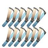evaclarly Mantel Clip,12 Pack Clips de Acero Pinzas para Mantel Clips de Mantel Inoxidable Boca Abrazadera Ajustable Clip elástico Triangular para Acampar Actividades al Aire Libre,78 x 45 mm