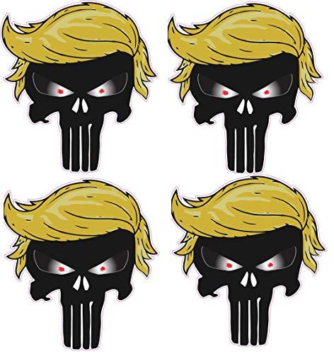 Trump Hard Hat Stickers Hardhat Trump 2024 America Decals (Black Skull)