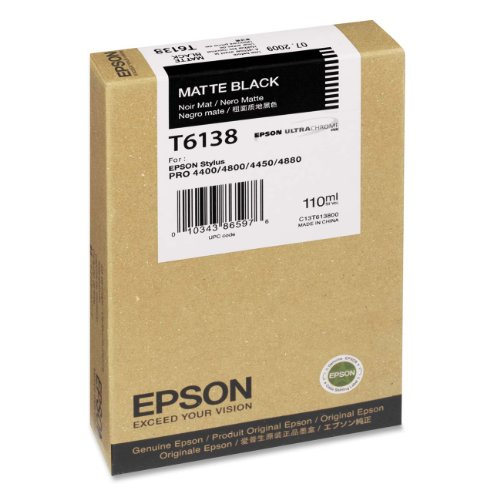 Epson T6138 Tintenpatrone, Singlepack, matt schwarz