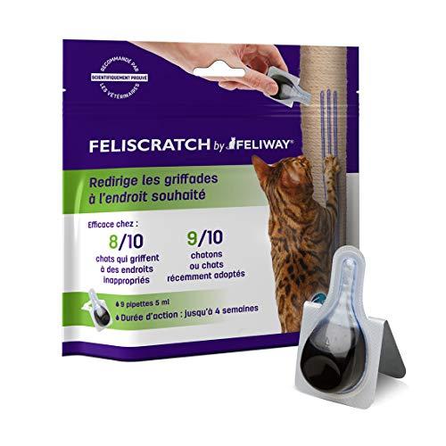 Feliscratch by FELIWAY – 9 Pipettes - Oriente les Griffades du Chat