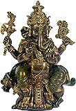 Sehr schöner sitzender Ganesha, der Gott des Glücks und des guten Gelingens