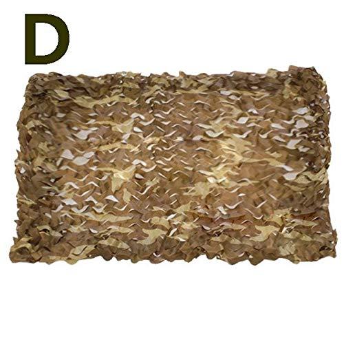 YMXLJF Filet d'ombrage, Filet de Camouflage dans la Jungle, Filet de Camouflage pour Parasol, Filet de décoration Vert Montagne Bloquer 70% des Rayons UV (Couleur : D, Taille : 6 * 6m)