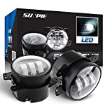 4' Led Fog Lights for Jeep Wrangler JK Led Fog Lamps Bulb Auto Len Projector Headlight Driving Offroad Lamp for Jeep Wrangler Dodge Front Bumper Lights