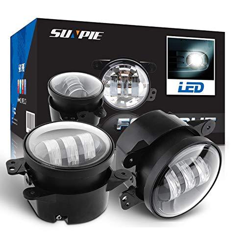 "4"" Led Fog Lights for Jeep Wrangler JK Led Fog Lamps Bulb Auto Len Projector Headlight Driving Offroad Lamp for Jeep Wrangler Dodge Front Bumper Lights"