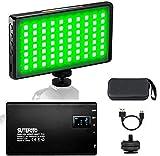 Sutefoto Mini Pocket 0-360 Luz de Video en Color RGB en la Cámara Incorporada Batería Recargable de 3300 mAh 2500K-8500K Ajustable, 0-100% Atenuación Continua CRI/TLCI 95+