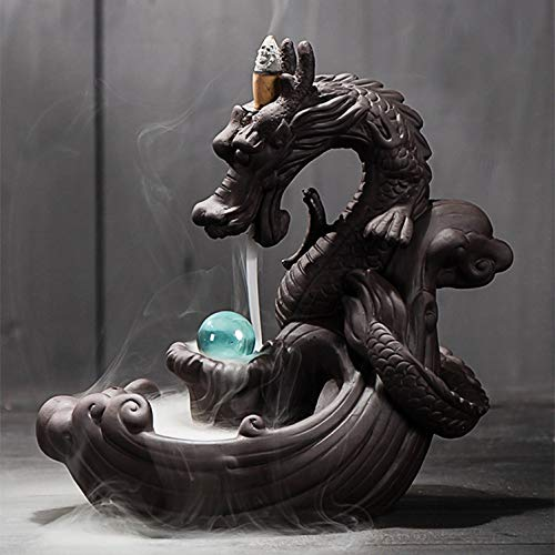 NHAO Incense Waterfall Burner Backflow Incense Holder Dragon Backflow Incense Burner Aromatherapy Diffusers Ornament Home Decor