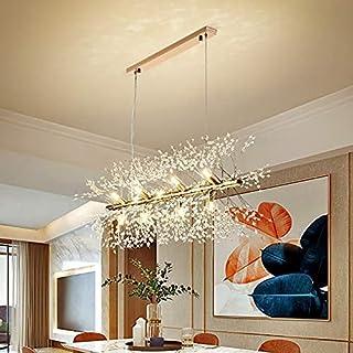 BBZZ 1 chandelier, design nordique, lampe à suspension pour cuisine, salon, chambre à coucher, plafonnier en cristal, écla...