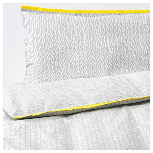 IKEA.. 803.732.13 4-teiliges Bettwäsche-Set für Wiege, grau