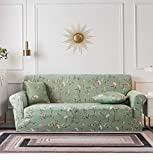 Sofa Cover Furniture Protector 1 2 3 4 Seater Green Pink Flowers...