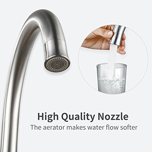 Homelody Wasserhahn Küche mit Brause Küchenarmatur 360° schwenkbar/drehbar Auslauf Spültischarmatur Spülbecken Spültisch Armatur Mischbatterie für Küche - 2