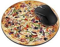 滑り止めの丸いマウスパッド たっての熱 ホームオフィスとゲームデスク用の黒いマウスパッドに春の花桜-SupremeDeluxePizza