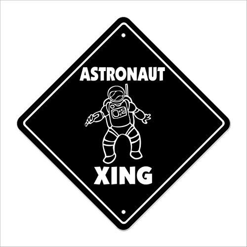 Astronaut Crossing Sign Zone Xing | Indoor/Outdoor | 12