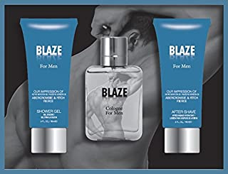 Blaze Men's 3 Piece Gift Set Includes Eau De Toilette Spray, Shower Gel And After Shave - Impression of Abercrombie & Fitch Fierce
