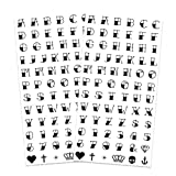 Traditional Knuckle Letters Temporary Tattoos (2-Pack)| Sailor Jerry Alphabet Numbers & Symbols | Skin Safe | MADE IN THE USA | Removable