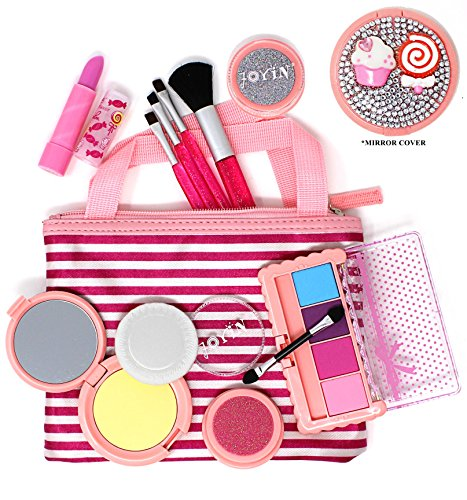 Joyin Toy Pretend Play Cosmetics and Makeup Set with No Pigment in Tote Bag