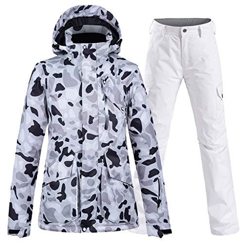 OMING Skianzüge Ski-Jacke und Hose Set Wasserdicht Berg Snowboard-Jacke Schneeanzüge Regen-Mantel-Windbraker Outwear Skianzüge für Mädchen (Color : A, Size : L Size)