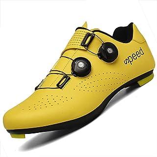 JINFAN Cyclisme Chaussures Vélo Homme Unisexe Professionnel VTT Respirant Baskets Chaussures De Course De Vélo,Yellow-40