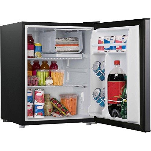 Galanz 2.7 cu ft Stainless Steel Look Single Door Compact Refrigerator