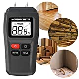 2020 New UpgradeWood Moisture Meter, GOCHANGE Digital Logs Moisture Meter Damp Meter / 0-99% Wood Humidity Tester Detector/Firewood Logs Timber Humidity Measuring Device with Backlight