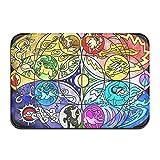 Zerbino per ingresso esterno con puzzle, motivo Pokémon