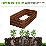 """Outdoor 2x2 ft metal raised garden bed patio frame planters box for vegetables/flower/ 8 size:47. 24""""(l)x47. 24""""(w)x11. 81""""(h) easy to assemble the garden bed with anti-rust coating is made of galvanized steel last long time"""