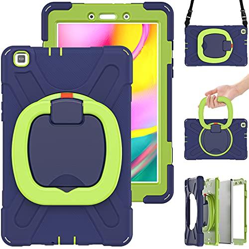 Funda para Samsung Galaxy Tab A 8.0' 2019 (Model: SM-T290/T295/T297), Funda Robusta Antichoque con Soporte y Correa de Mano y Bandolera,A6