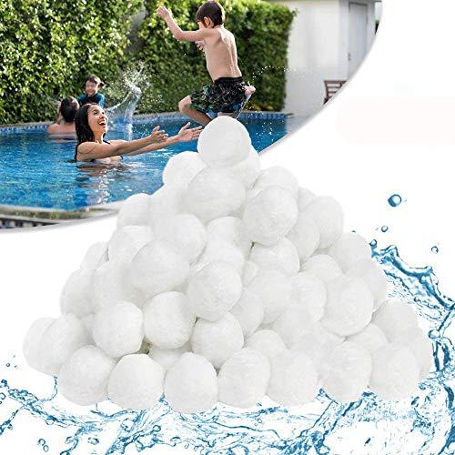 Filter Balls 1400g ersetzen 50 kg Filtersand, Filterbälle für Pool, Schwimmbad, Filterpumpe, Aquarium Sandfilter