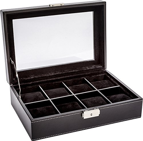 LA ROYALE Classico 8 XL Uhrenbox Aufbewahrungsbox für 8 Uhren