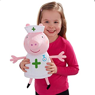 Peppa Pig Nurse Peppa Large Soft Plush Cuddly Toy 29cm Tall 18m+