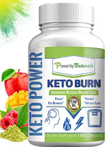 PbyN - Keto Burn eXtreme Ketosis Weight Loss Pills, 1200 Mg Advanced Natural Ketogenic Fat Burner Using Ketone Diet, Appetite Suppressant, Detox, Boost Energy and Metabolism for Men and Women 60 Pills