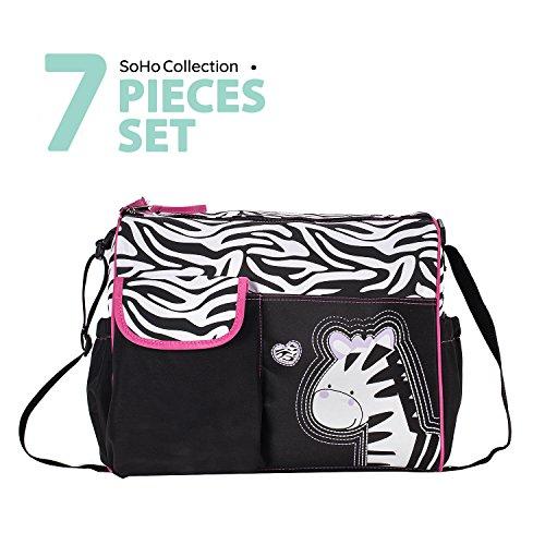 Trendy Boutique Zwart & Wit Zebra Gestreept Roze Zebra Luiertas