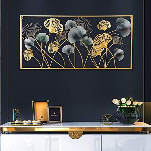 Little stars 3D Metall-Wandbild Wanddekoration Schwarz und Gold Ginkgo biloba Schmiedeeisen Handgemacht Handwerk Einfacher Stil Arbeitszimmer/Wohnzimmer/Schlafzimmer/Hotel