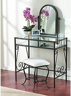 Linon Clarisse Metal Vanity Set, 52.4