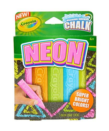 Crayola Washable Sidewalk Chalk, Neon Chalk 5ct