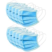 50-Pack Freeu Disposable 3-Ply Safety Face Mask for Personal Health